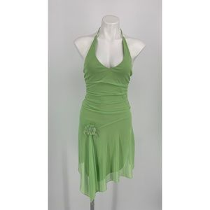 🎈 City Triangles Green Halter Dress
